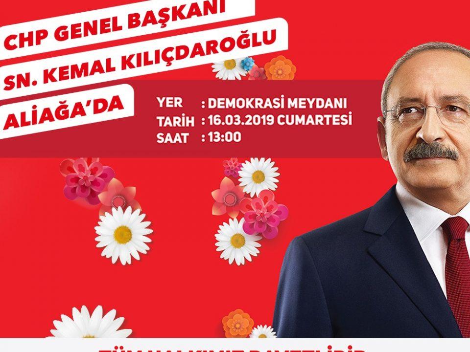 16 Mart Saat 13:00'te Aliağa Demokrasi Meydanı'nda Buluşuyoruz